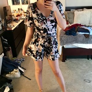 GUESS Floral Flouncy Romper